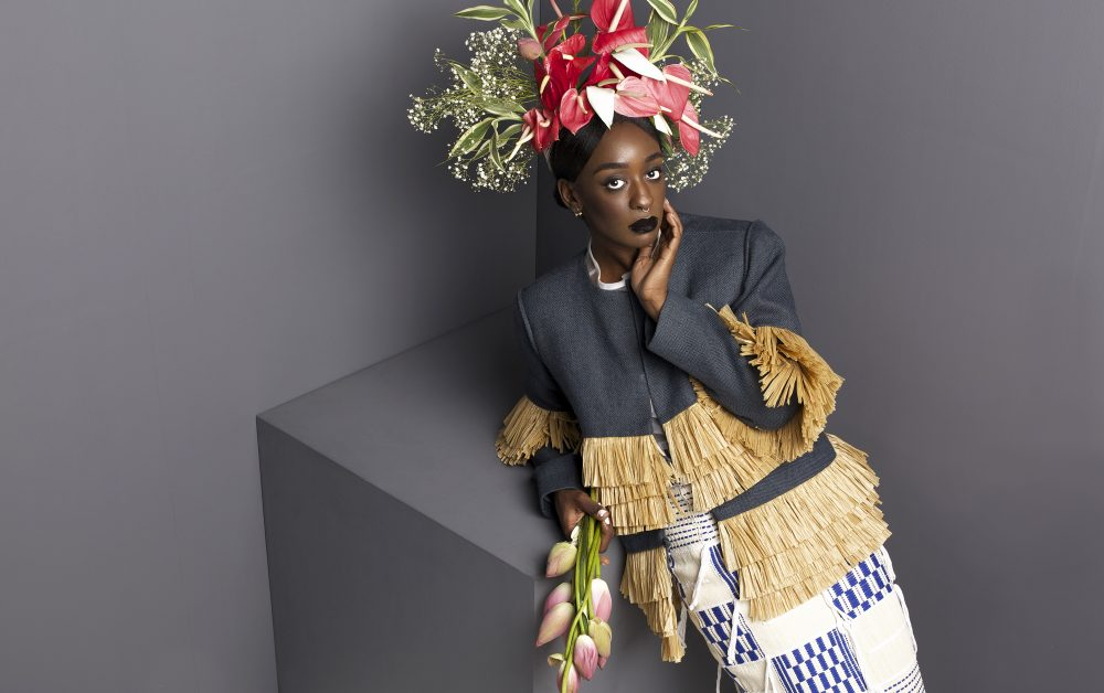 Image from Saint Heron's feature on Loza Maléombho during fashion week, wearing Loza Maléombho.
